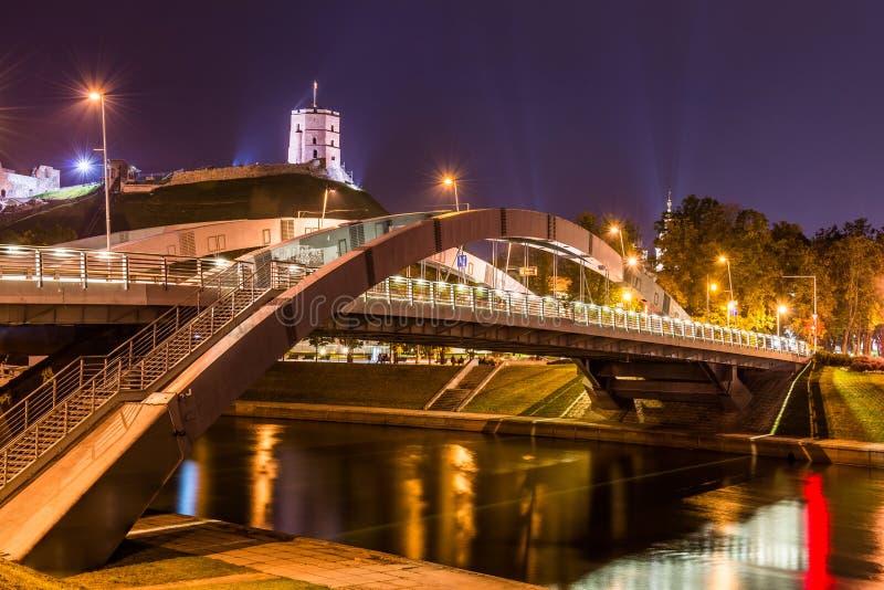 Cena da noite de Vilnius foto de stock