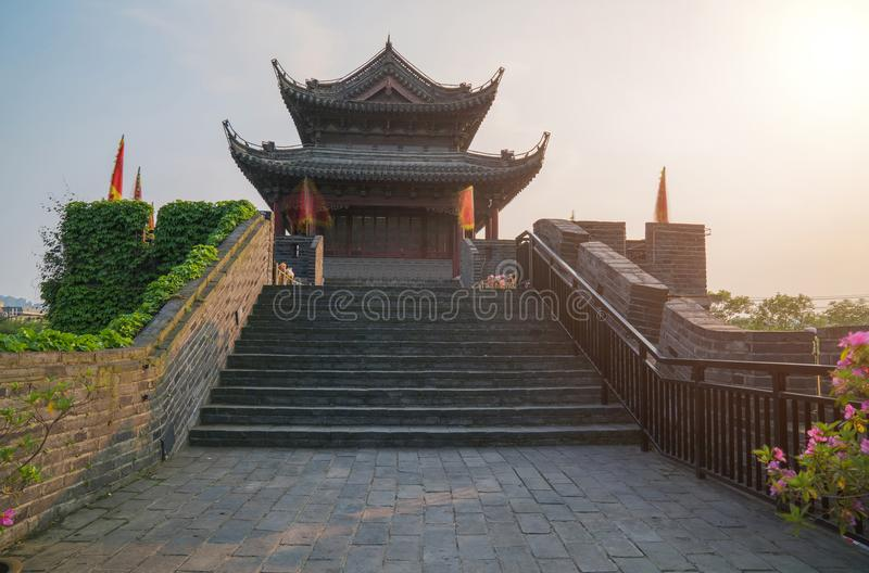 A cena da parede da cidade antiga de Suzhou China foto de stock royalty free