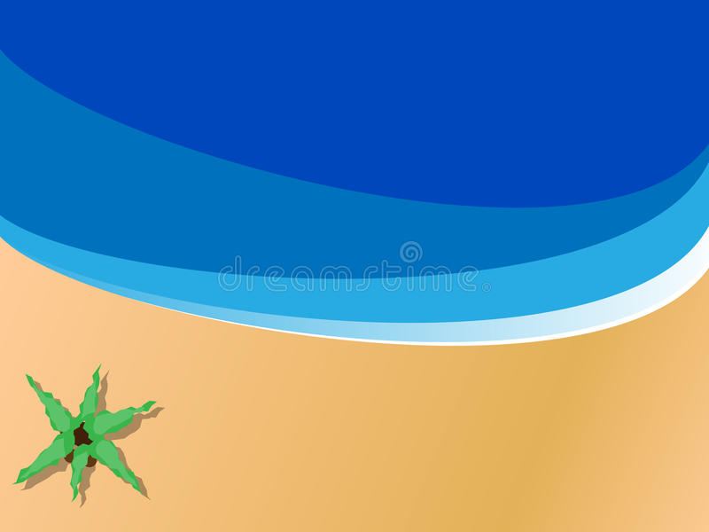 Cena da praia ilustração do vetor