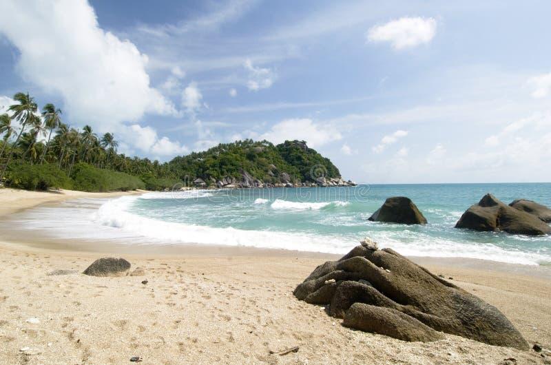 Cena da praia de Ko Pha Ngan, Tailândia imagens de stock royalty free