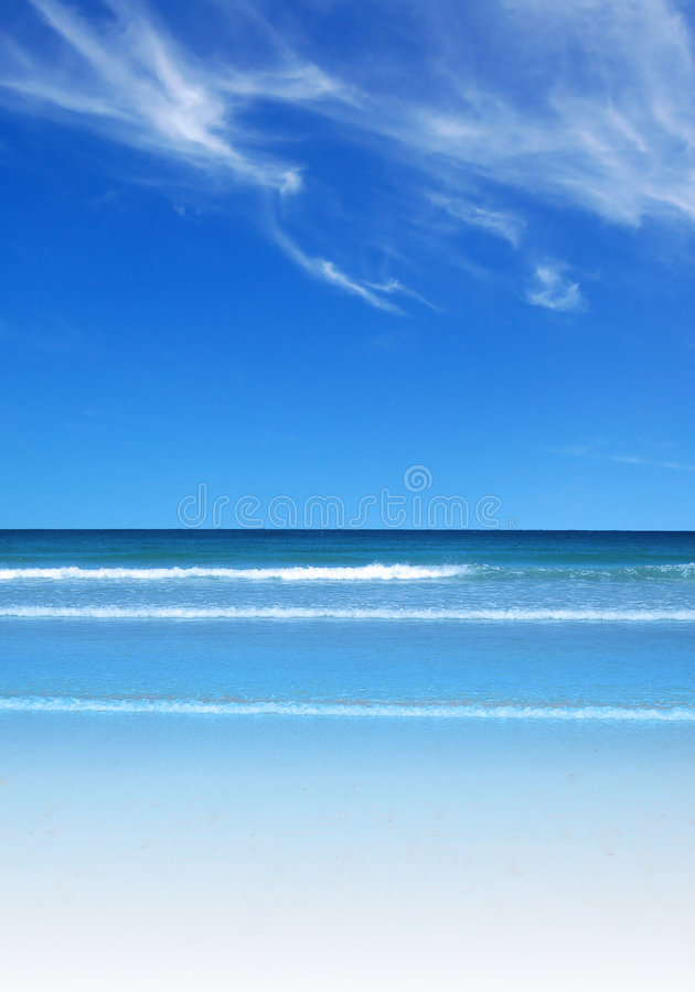 Cena da praia do paraíso fotografia de stock