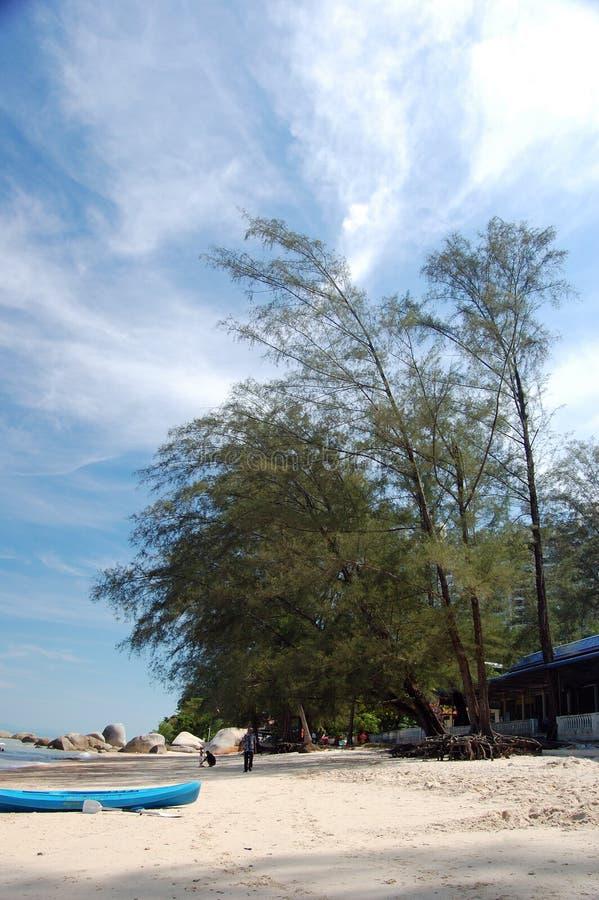 Cena da praia em Malaysia imagens de stock
