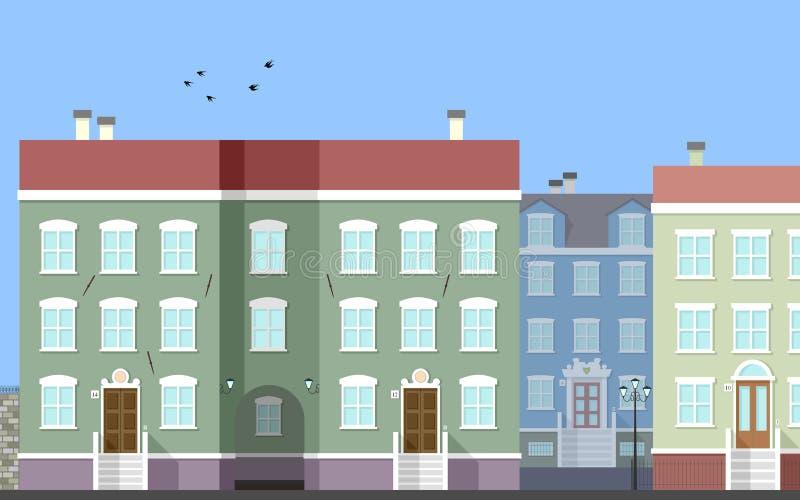 Cena da rua da cidade [2] ilustração royalty free