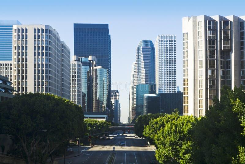 Cena da rua da cidade de Los Angeles foto de stock