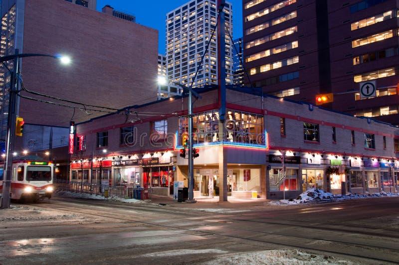 Cena da rua de Calgary fotos de stock