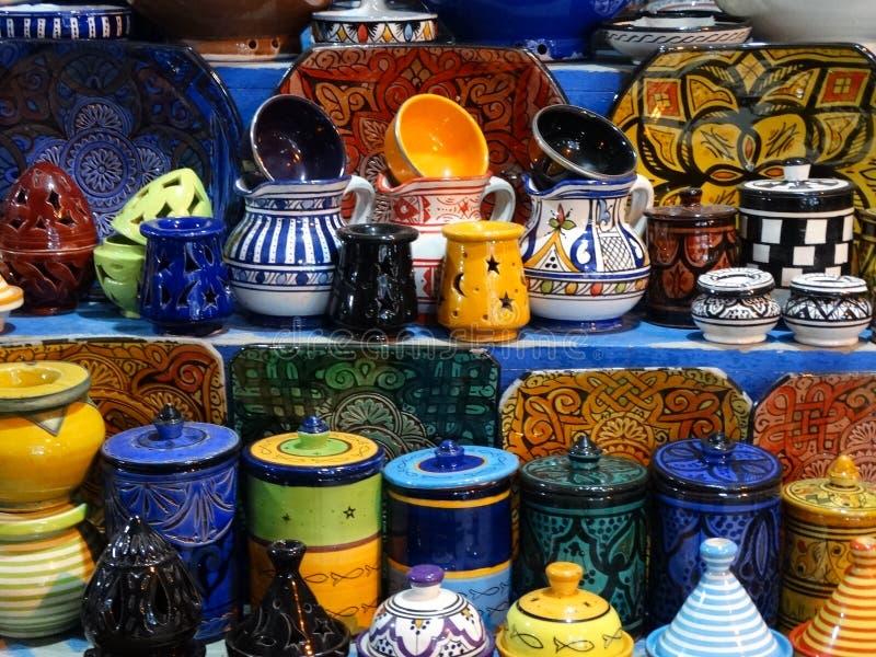 Cena da rua de Essaouira medina, Marrocos fotos de stock