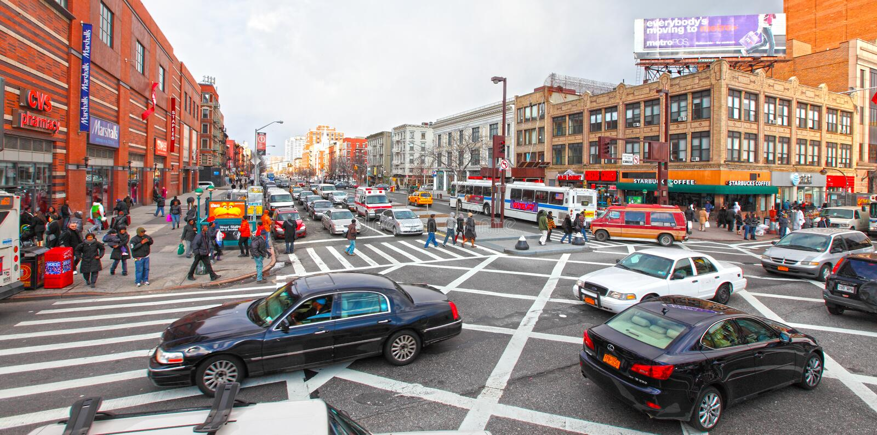 Cena da rua de Harlem fotografia de stock