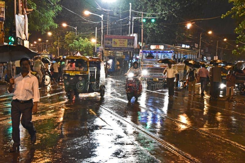 Cena da rua de Kolkata fotos de stock royalty free