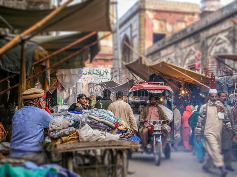 Cena da rua de Lahore imagem de stock royalty free