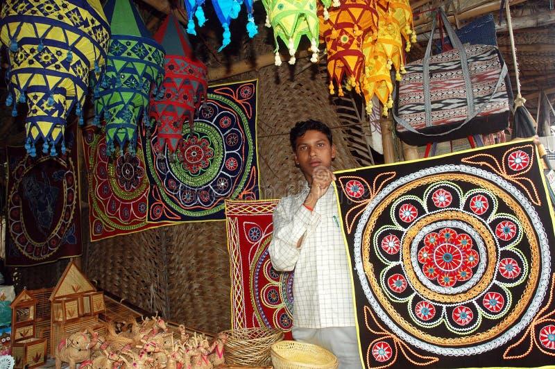 Cena da rua do estado de Orissa de India imagens de stock