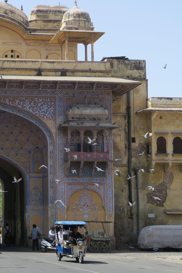 Cena da rua em Jaipur, Índia fotos de stock royalty free