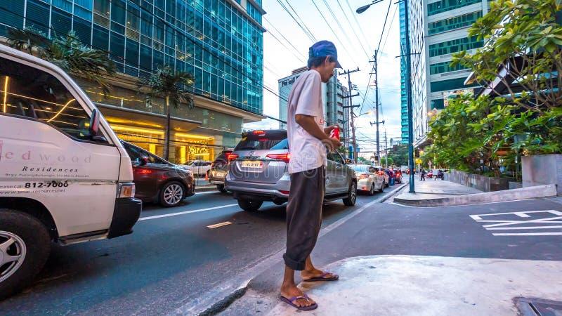 Cena da rua em Manila, Filipinas foto de stock royalty free