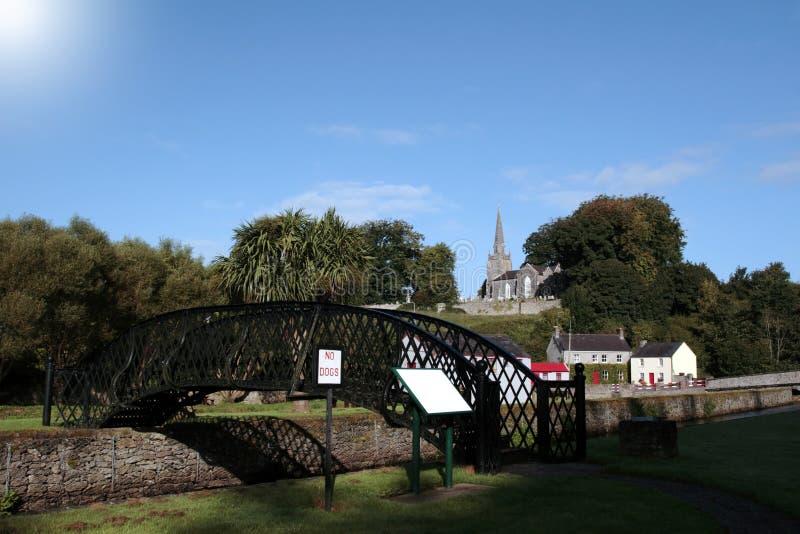 Cena de aço da ponte de Castletownroche fotografia de stock