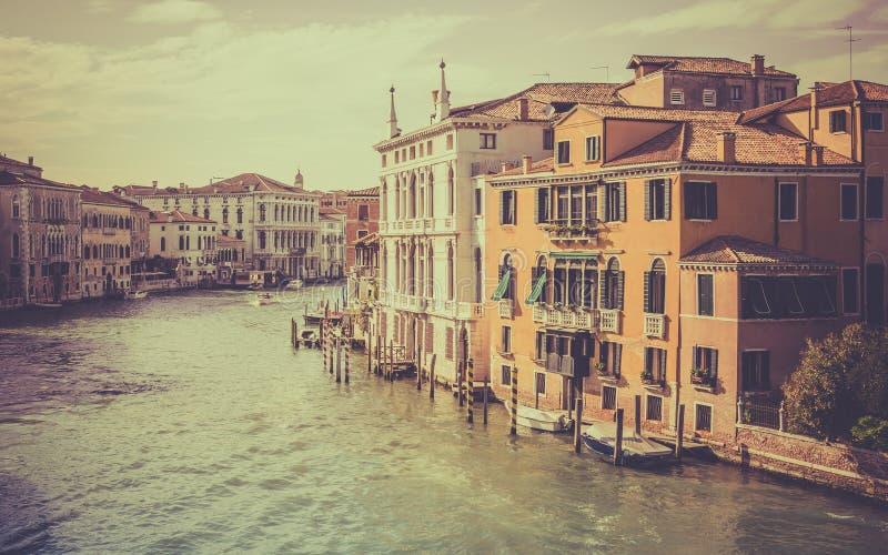 Cena de Grand Canal, Veneza imagens de stock royalty free
