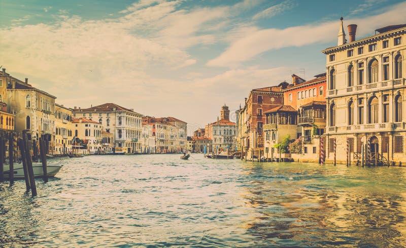 Cena de Grand Canal, Veneza imagens de stock