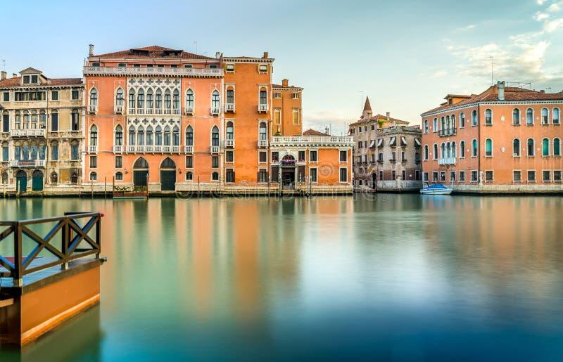 Cena de Grand Canal, Veneza foto de stock
