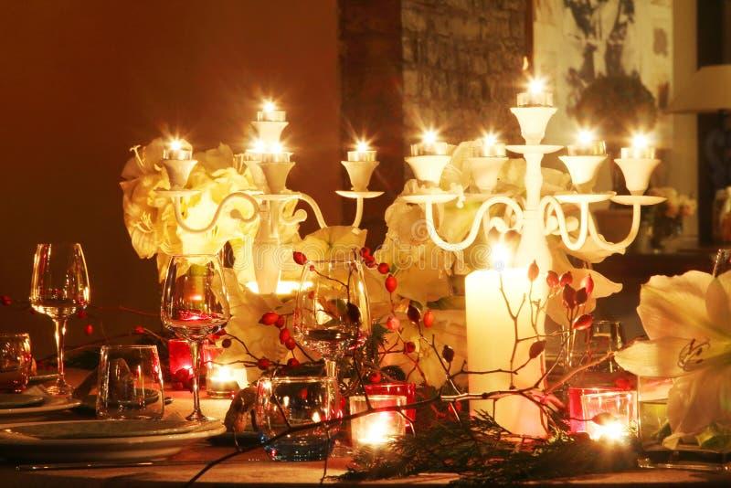 Cena de la Navidad foto de archivo libre de regalías