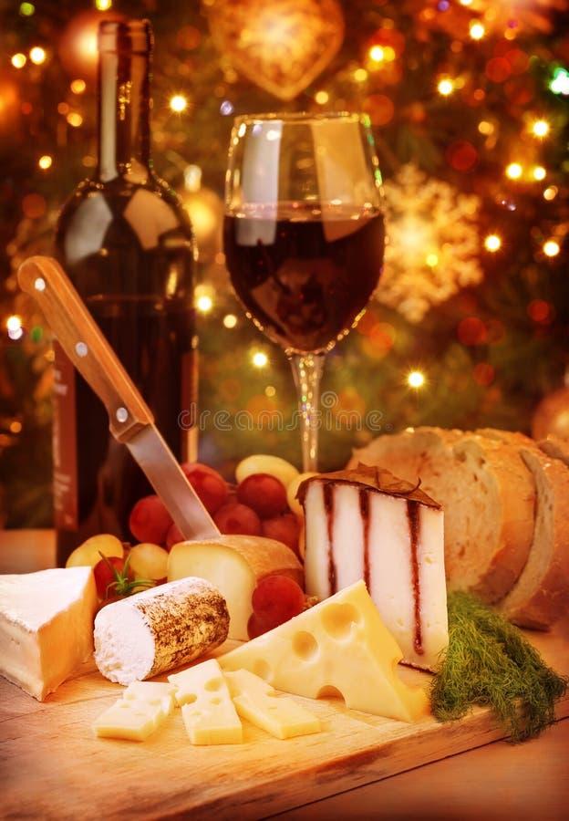 Cena de la Navidad en casa fotos de archivo