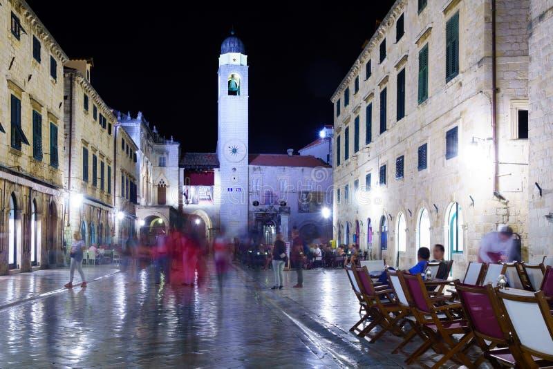 Cena de Main Street, Dubrovnik fotografia de stock royalty free