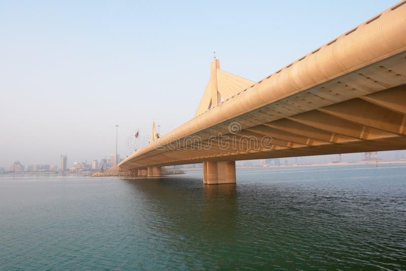 Cena de Manama da ponte de Salman do escaninho de Shaikh AIA fotografia de stock royalty free
