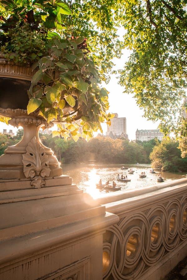 Cena de New York do Central Park imagem de stock royalty free