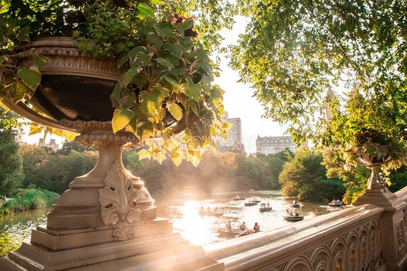 Cena de New York do Central Park imagens de stock