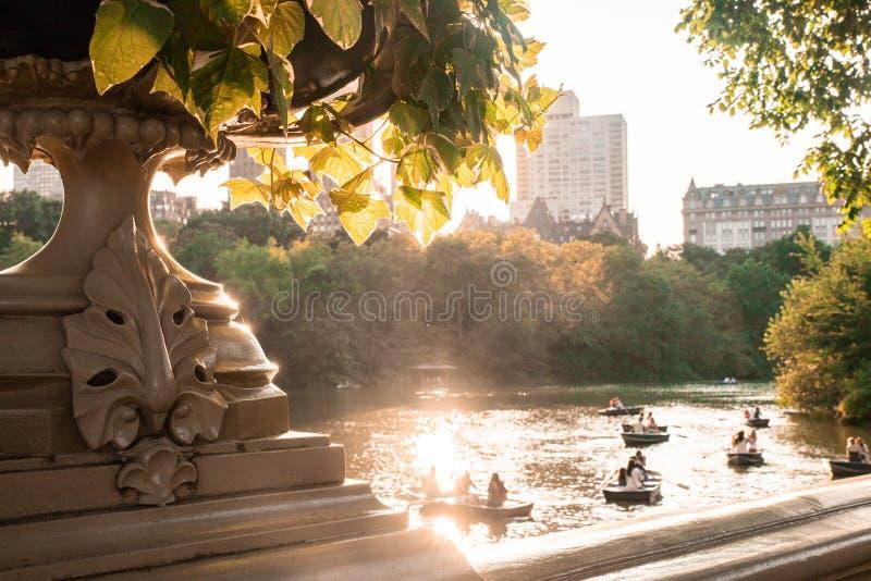 Cena de New York do Central Park fotografia de stock