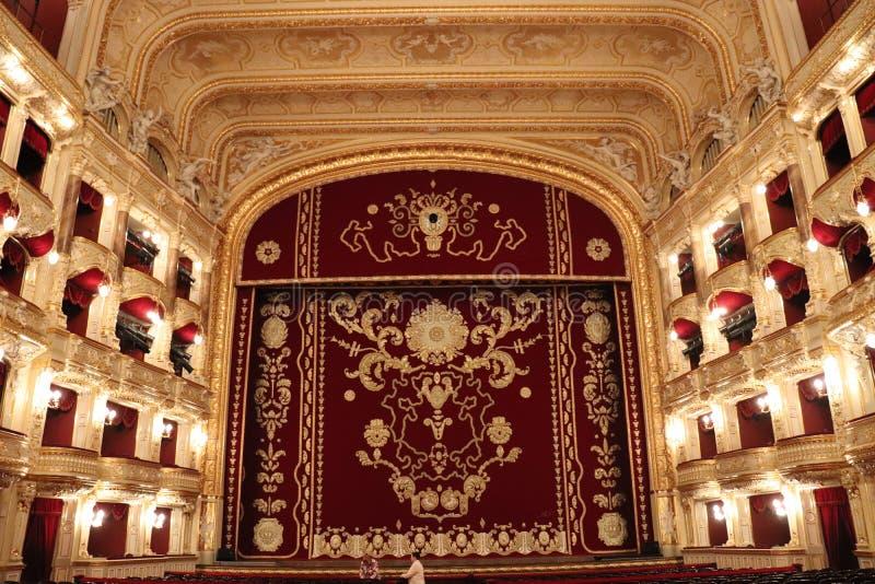 Cena de Odessa Opera House fotografia de stock