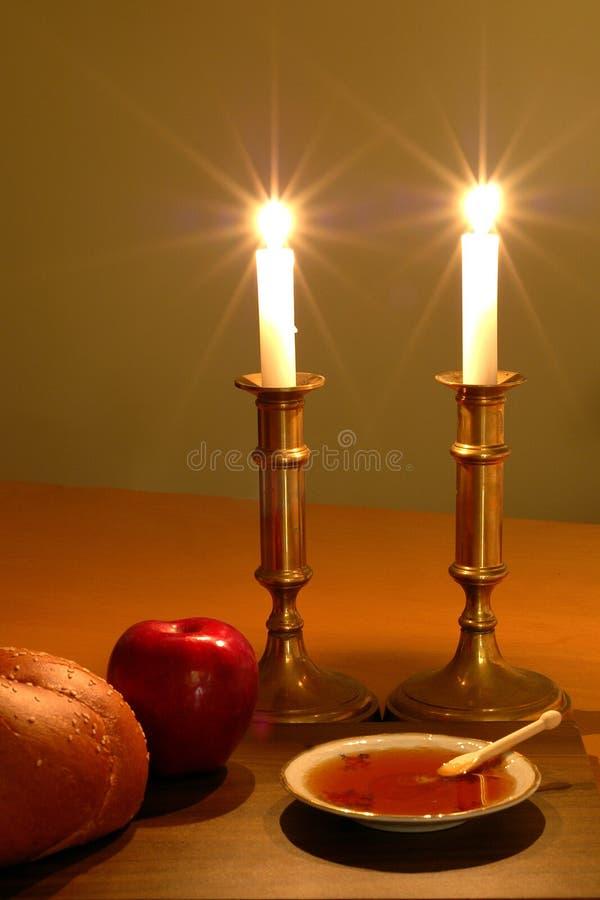 Cena de Rosh Hashanah fotos de stock