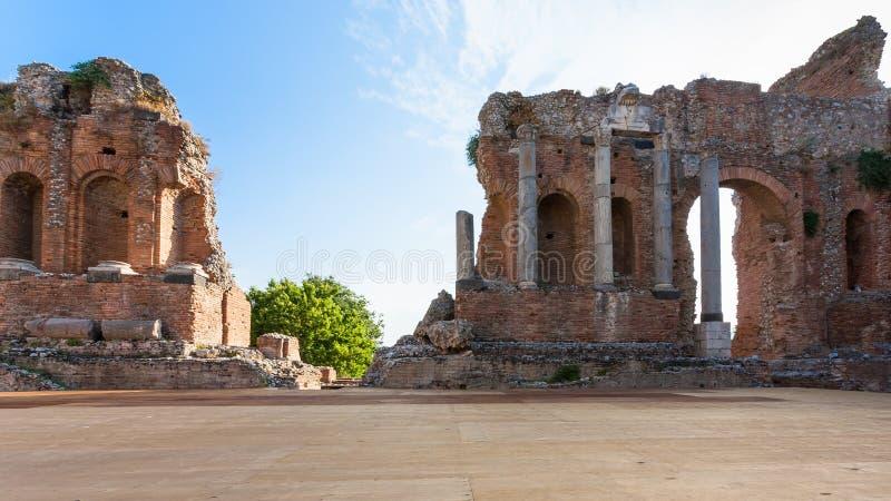 Cena de Teatro antigo Greco em Taormina imagens de stock royalty free