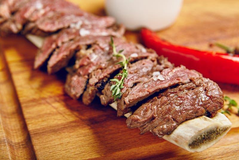 Cena del filete de carne de vaca imagen de archivo