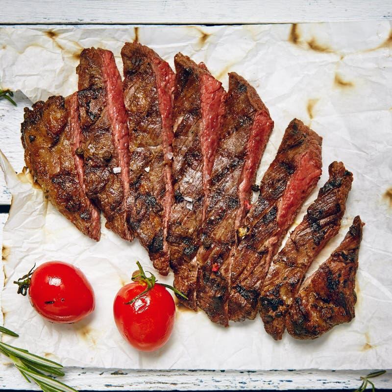 Cena del filete de carne de vaca imagenes de archivo