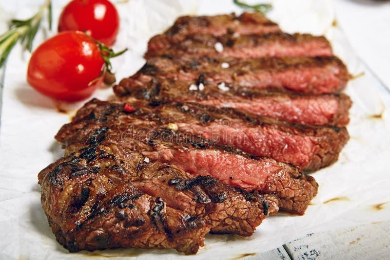 Cena del filete de carne de vaca fotografía de archivo libre de regalías