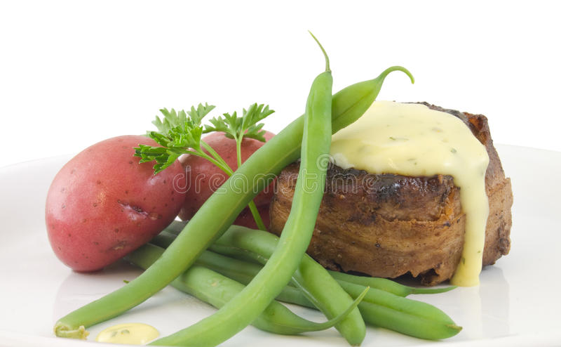 Cena del Mignon de filete foto de archivo