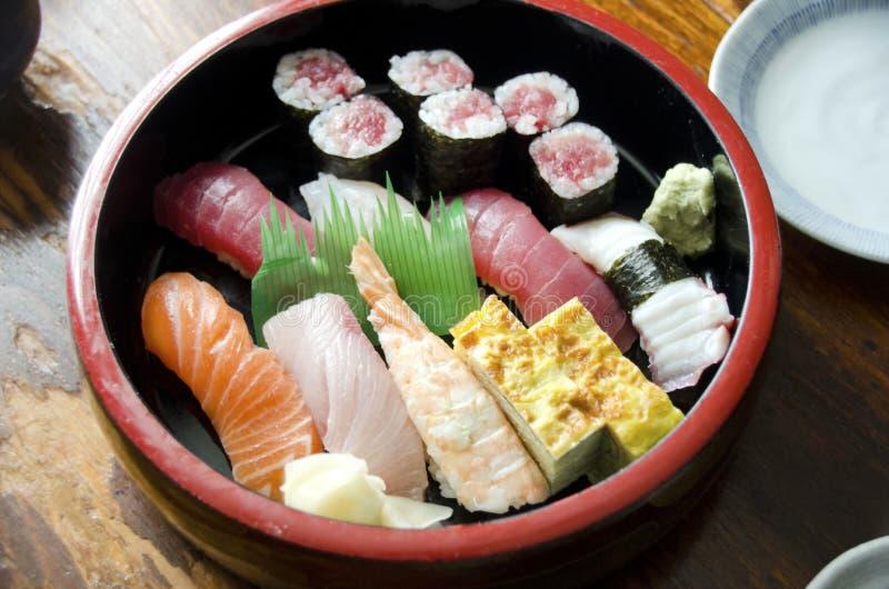 Cena del sushi fotografía de archivo