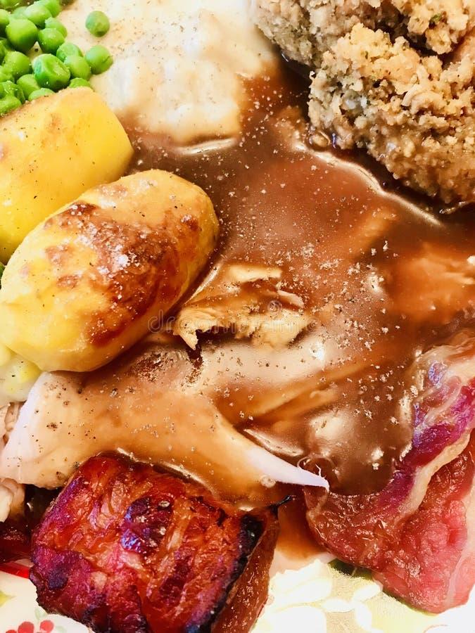 Cena della Turchia dell'arrosto fotografia stock