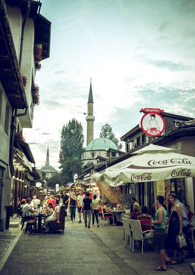 Cena di Iftar a Sarajevo, Bosnia immagine stock