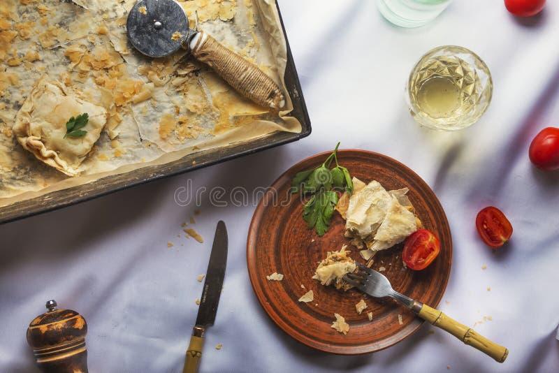 Cena di Natale, cena di ringraziamento, decorazioni di ringraziamento, cena, pasticceria, tavola, ricette di antipasto, checklist fotografia stock libera da diritti