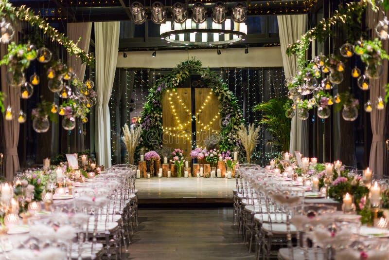 Cena di nozze fotografia stock