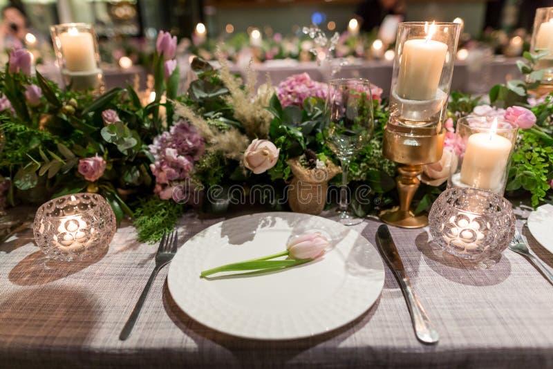 Cena di nozze fotografia stock libera da diritti