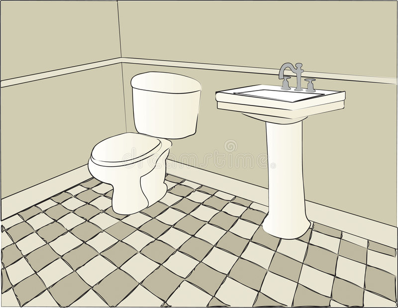 Cena do banheiro fotografia de stock royalty free