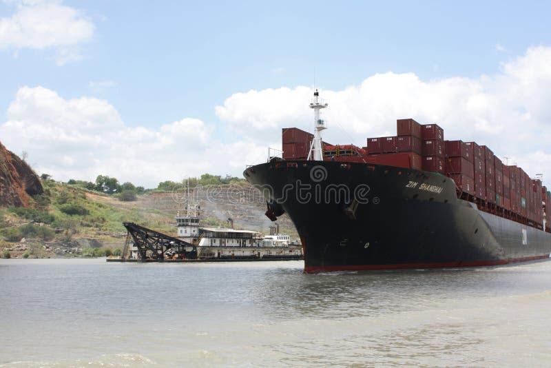Cena do canal do Panamá fotos de stock royalty free