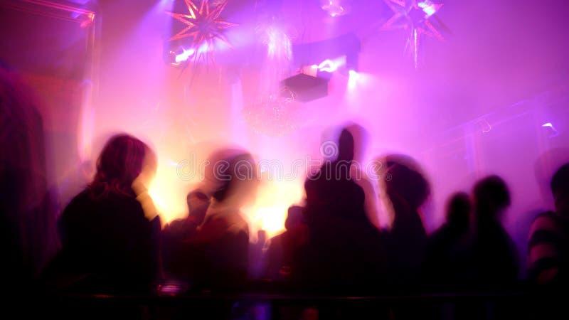 Cena do clube nocturno imagem de stock