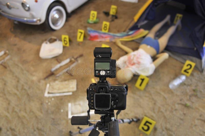 Cena do crime fotografia de stock royalty free