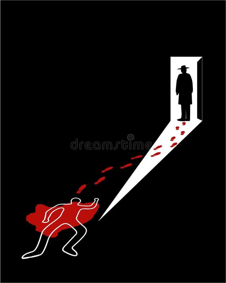 Cena do crime ilustração royalty free
