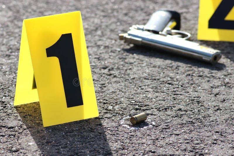 Cena do crime 04 fotografia de stock