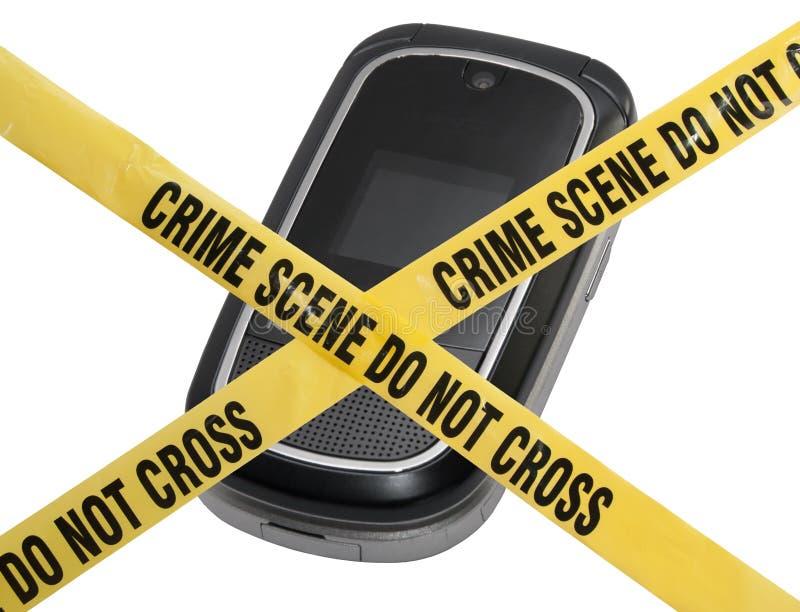 Cena do crime móvel fotografia de stock