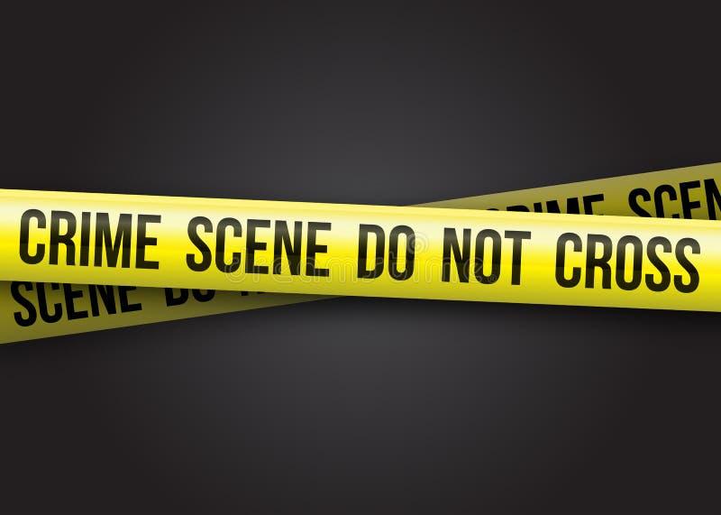 A cena do crime não se cruza ilustração do vetor