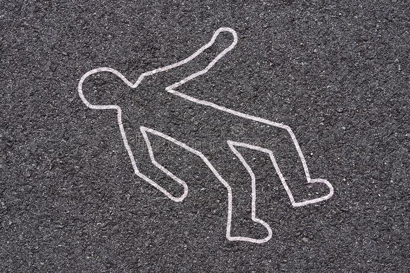 Cena do crime na rua fotografia de stock