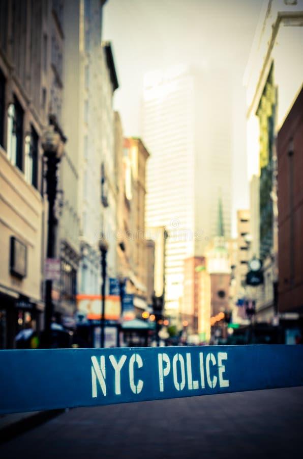 Cena do crime retro de NYC fotografia de stock royalty free